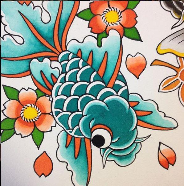 tattoo-japones-pamplona-goldfish-2