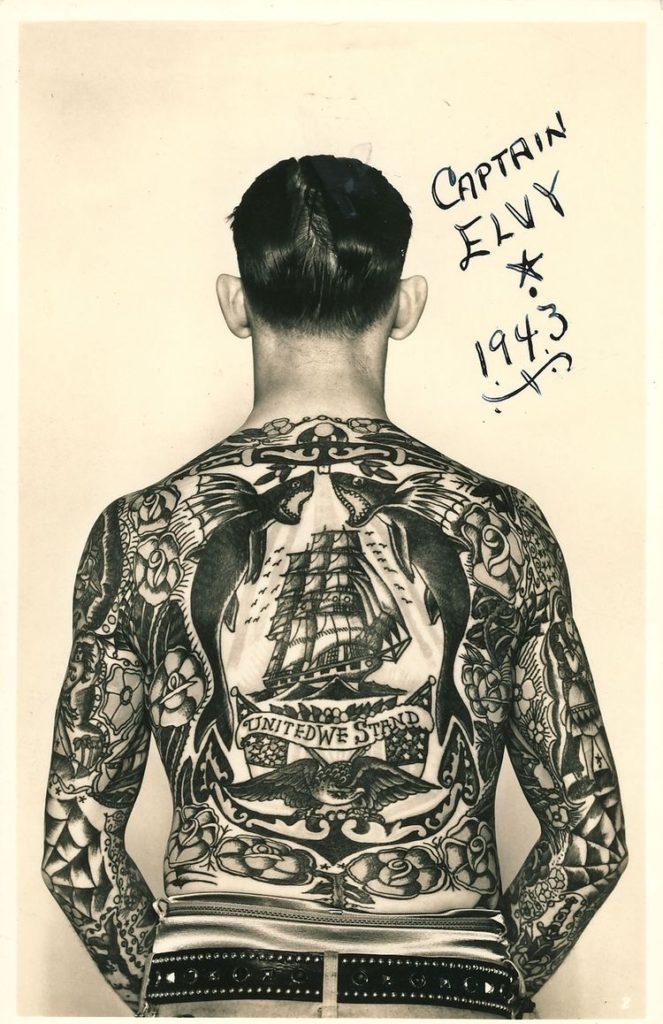 tatuaje-clasico-espalda-Captain-Elvy-tatuado-por-Sailor-George-Fosdick